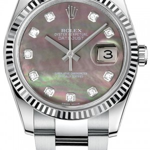 Rolex Datejust 36 Diamond Dial Watch 116234