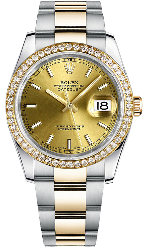 Rolex Datejust 36 Women's Gold Watch 116243