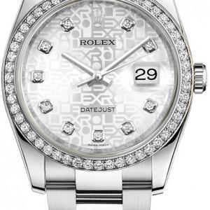 Rolex Datejust 36 Silver Jubilee Diamond Dial Watch 116244