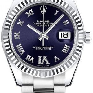 Rolex Datejust 31 Purple Diamond Oyster Bracelet Watch 178274