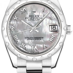 Rolex Datejust 31 Solid 18K White Gold & Stainless Steel Watch 178344