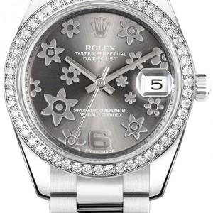 Rolex Datejust 31 Rhodium Diamond Dial Women's Watch 178384