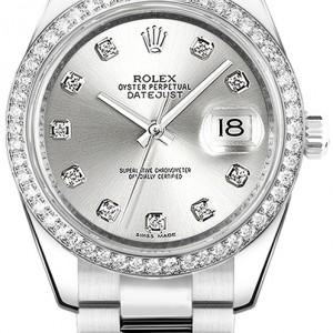 Rolex Datejust 31 Silver Diamond Oyster Bracelet Watch 178384
