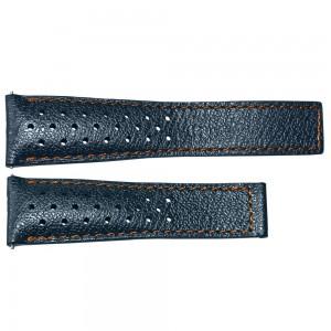 TAG Heuer Monaco 22mm Blue Calfskin Strap FC6401