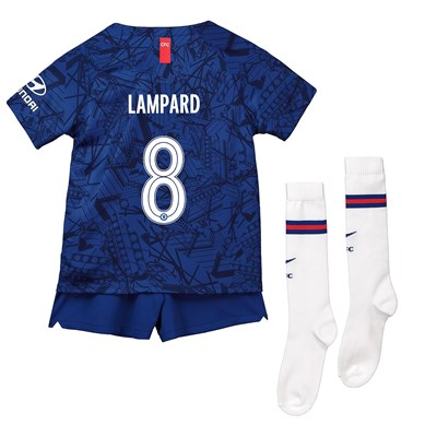 Chelsea Home Cup Stadium Kit 2019-20 – Little Kids with Lampard 8 printing