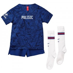 Chelsea Home Cup Stadium Kit 2019-20 – Little Kids with Pulisic TBC printing