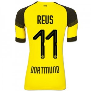 BVB Authentic evoKNIT Home Shirt 2018-19 with Reus 11 printing