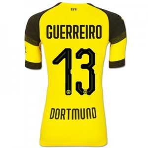 BVB Authentic evoKNIT Home Shirt 2018-19 with Guerreiro 13 printing