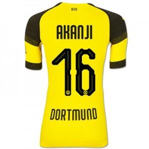 BVB Authentic evoKNIT Home Shirt 2018-19 with Akanji 16 printing