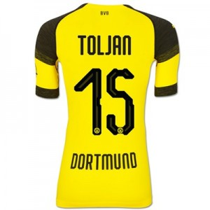 BVB Authentic evoKNIT Home Shirt 2018-19 with Toljan 15 printing