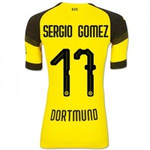 BVB Authentic evoKNIT Home Shirt 2018-19 with Sergio Gomez 17 printing