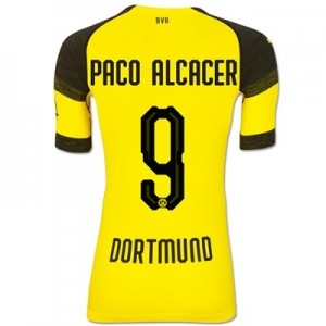 BVB Authentic evoKNIT Home Shirt 2018-19 with Paco Alcacer 9 printing