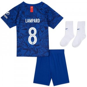 Chelsea Home Cup Stadium Kit 2019-20 – Infants with Lampard 8 printing