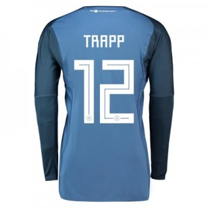 Germany Home Goalkeeper Shirt 2018 with Trapp 12 printing