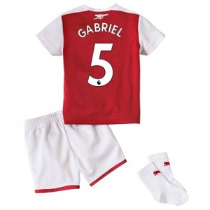Arsenal Home Baby Kit 2017-18 with Gabriel 5 printing