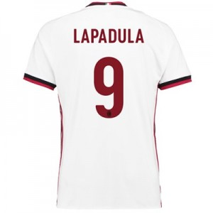 AC Milan Away Shirt 2017-18 with Lapadula 9 printing