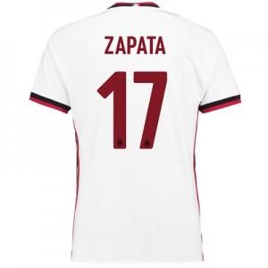 AC Milan Away Shirt 2017-18 with Zapata 17 printing