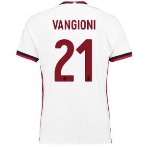 AC Milan Away Shirt 2017-18 with Vangioni 21 printing