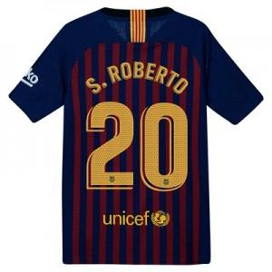 Barcelona Home Vapor Match Shirt 2018-19 – Kids with S.Roberto 20 printing
