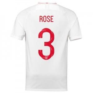 England Home Stadium Shirt 2018 with Rose 3 printing