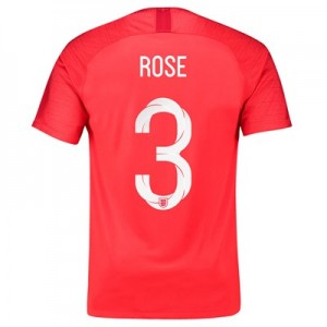 England Away Stadium Shirt 2018 with Rose 3 printing