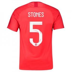 England Away Stadium Shirt 2018 with Stones 5 printing