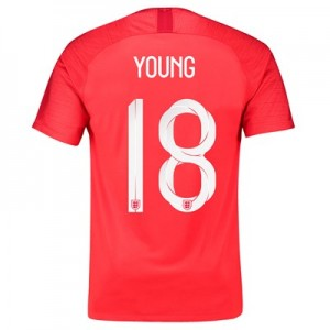 England Away Stadium Shirt 2018 with Young 18 printing