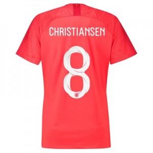 England Away Stadium Shirt 2018 – Womens with Christiansen 8 printing