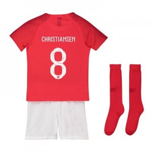England Away Stadium Kit 2018 – Little Kids with Christiansen 8 printing