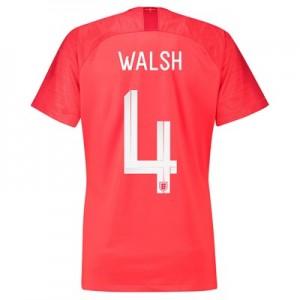 England Away Stadium Shirt 2018 – Womens with Walsh 4 printing