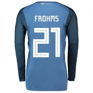 Germany Home Goalkeeper Shirt 2018 with Frohms 21 printing