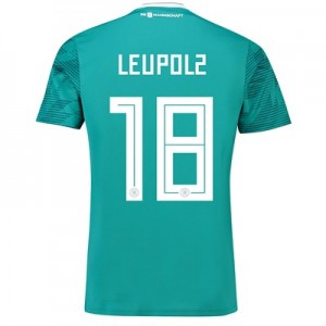 Germany Away Shirt 2018 with Leupolz 18 printing