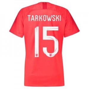 England Away Stadium Shirt 2018 – Womens with Tarkowski 15 printing