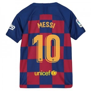 Barcelona Home Stadium Shirt 2019-20 – Kids with Messi 10 printing