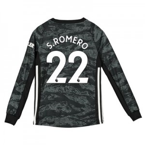 Manchester United Away Goalkeeper Shirt 2019 – 20 – Kids with S.Romero 22 printing