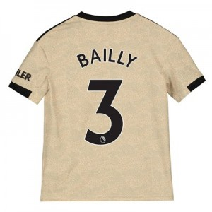 Manchester United Away Shirt 2019 – 20 – Kids with Bailly 3 printing