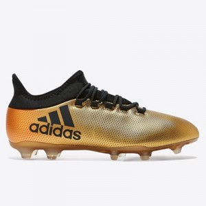 adidas X 17.2 Firm Ground Football Boots – Gold
