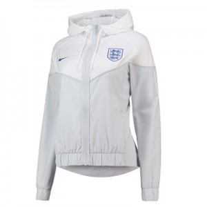 England Authentic Woven Windrunner Jacket – White – Womens