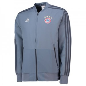 FC Bayern UCL Training Presentation Jacket – Grey