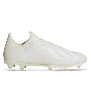 adidas X 18.2 Firm Ground Football Boots – White