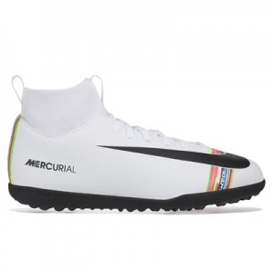 Nike Mercurial Level Up SuperflyX 6 Club Astroturf Trainers – White – Kids
