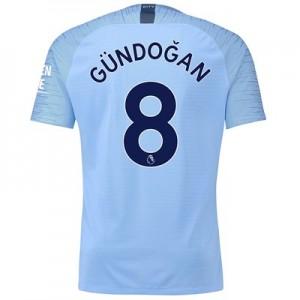 Manchester City Home Vapor Match Shirt 2018-19 with Gündogan 8 printing