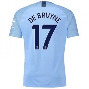 Manchester City Home Vapor Match Shirt 2018-19 with De Bruyne 17 printing