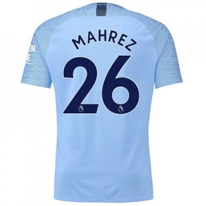 Manchester City Home Vapor Match Shirt 2018-19 with Mahrez 26 printing