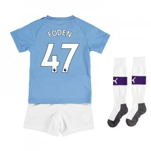 Manchester City Home Mini Kit 2019-20 with Foden 47 printing
