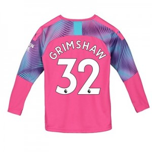 Manchester City Away Goalkeeper Shirt 2019-20 – Kids with Grimshaw 32 printing