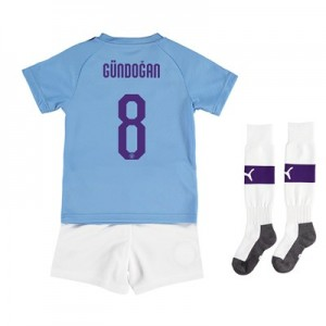 Manchester City Cup Home Mini Kit 2019-20 with Gündogan 8 printing