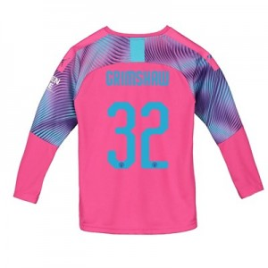 Manchester City Cup Away Goalkeeper Shirt 2019-20 – Kids with Grimshaw 32 printing