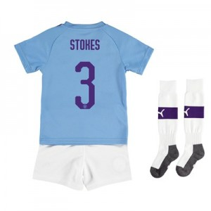 Manchester City Cup Home Mini Kit 2019-20 with Stokes 3 printing