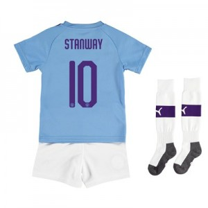 Manchester City Cup Home Mini Kit 2019-20 with Stanway 10 printing